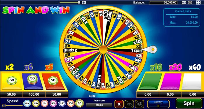 เกมวงล้อมหาสนุก Spin and win